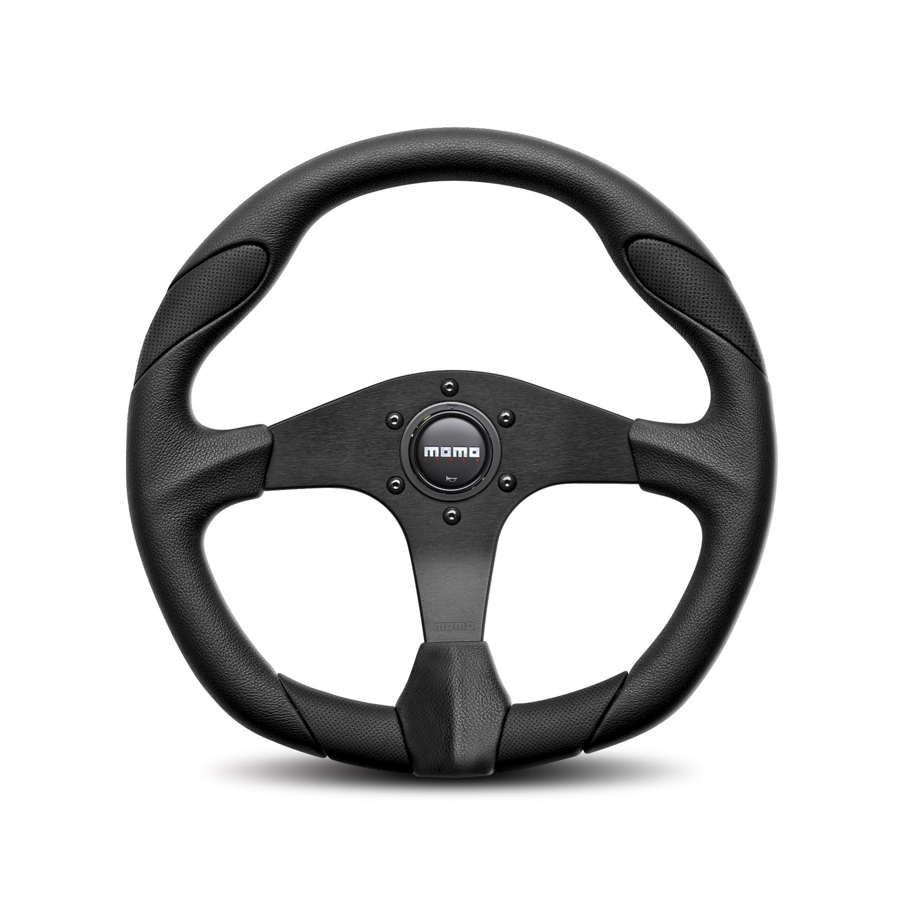 "Land Rover Defender Momo Quark 14"" black sports wheel"