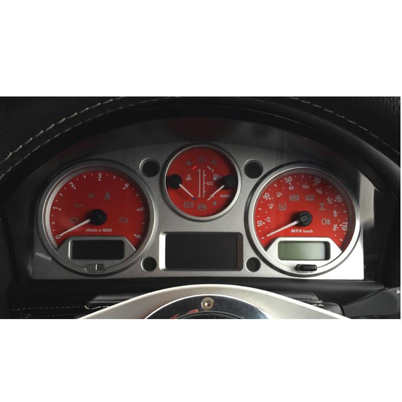 Land Rover Defender Red MPH Dial ( Uk Models )