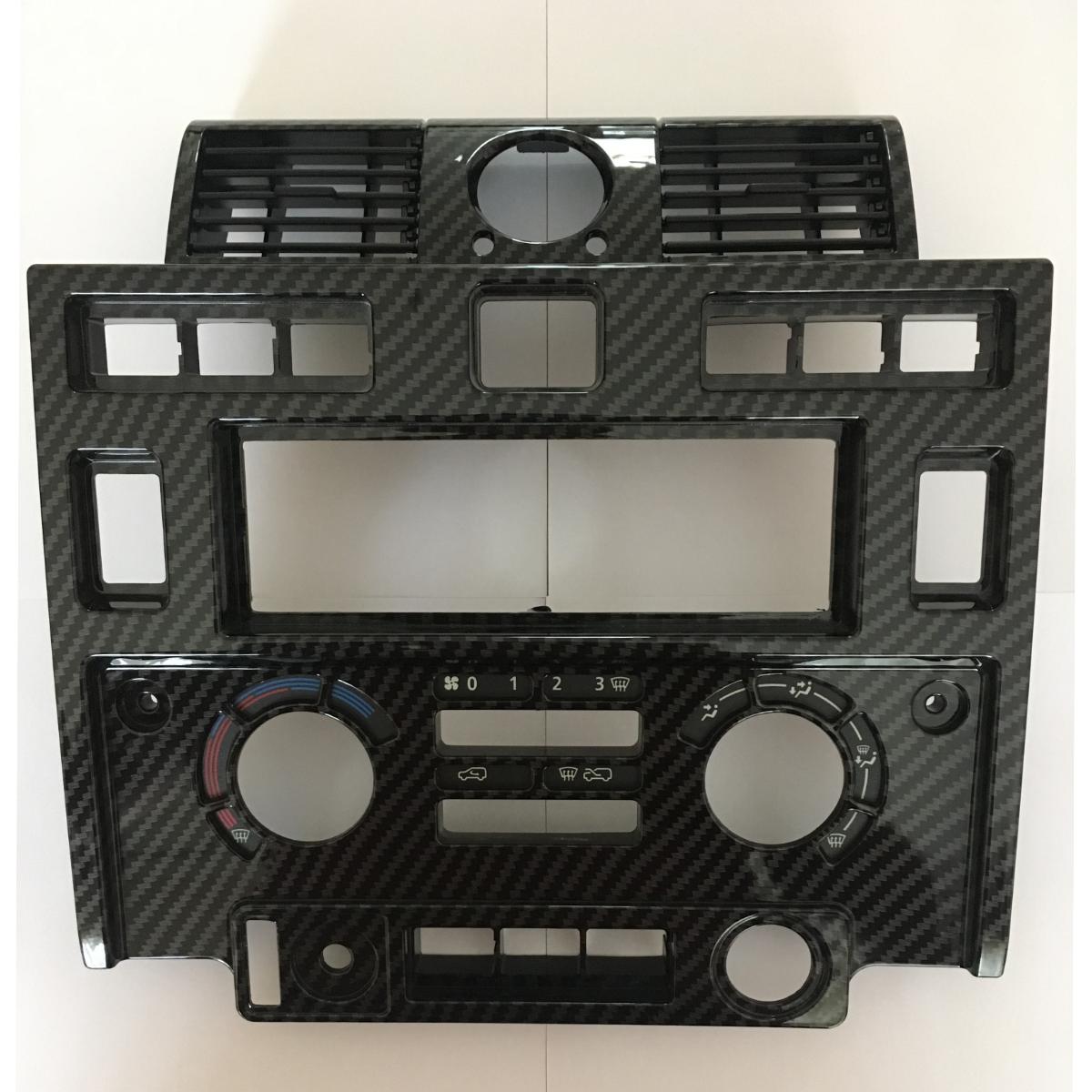 Land Rover Defender Carbon Fibre look Single Din Facia
