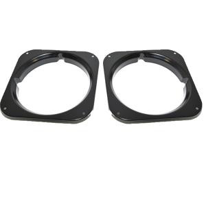 land rover defender series headlight bezels black